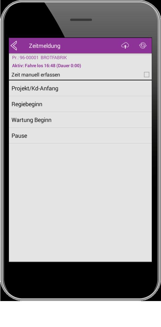 Infotage Zeiterfassung per Smartphone