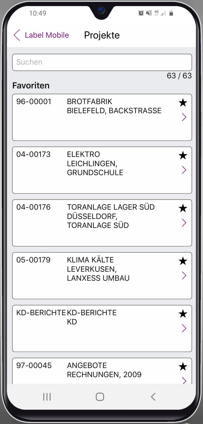 Label Mobile: Projektabwicklung