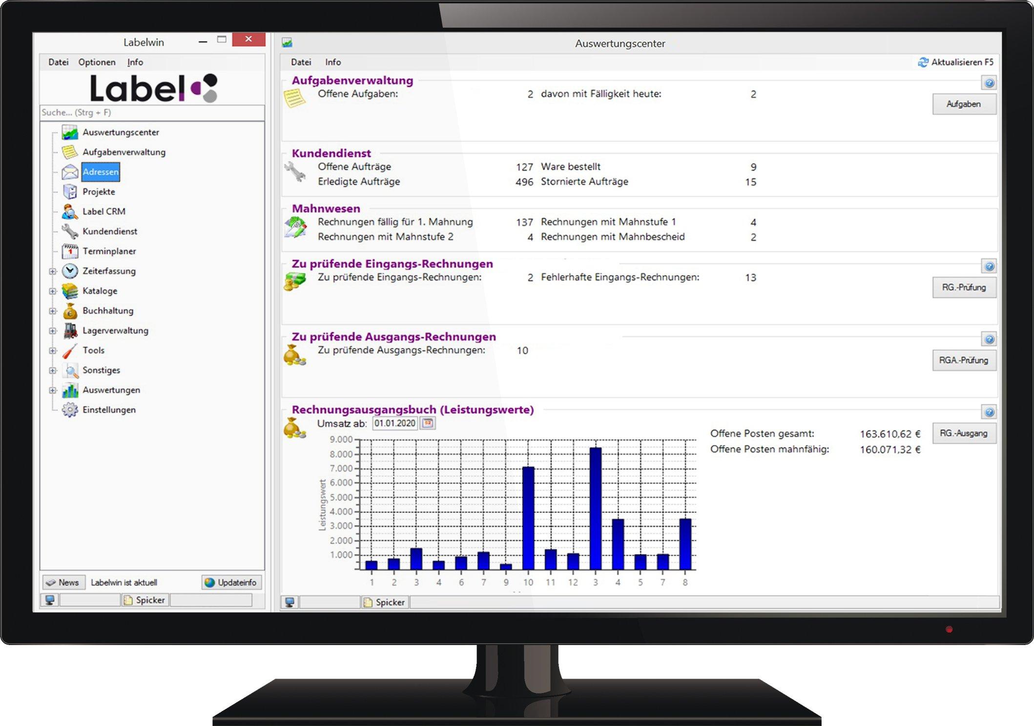 Labelwin-Startbildschirm