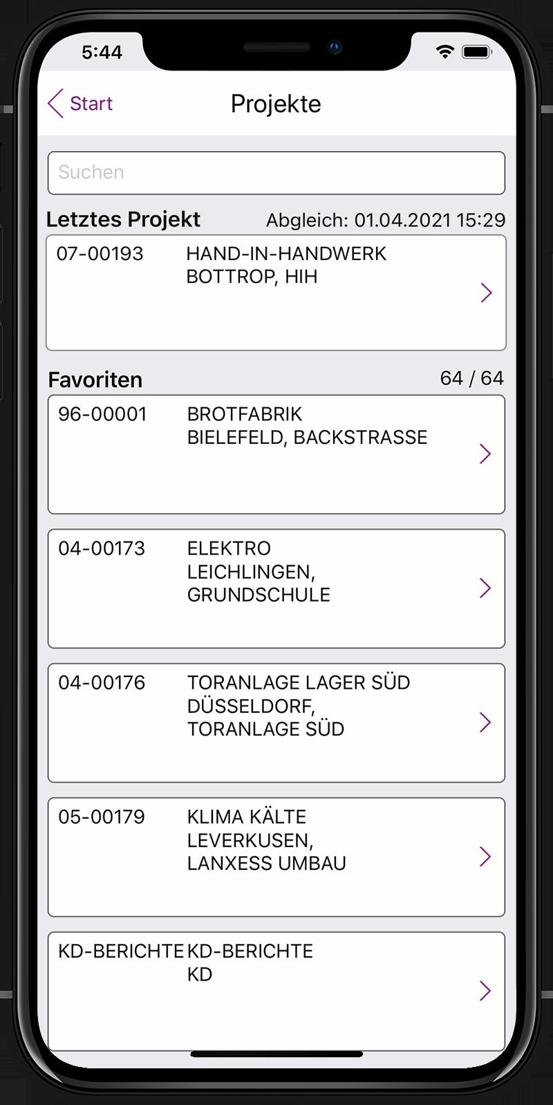 Label Mobile: Projekte