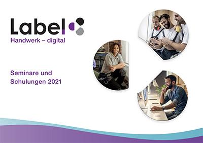 Seminar-Broschüre von Label Software
