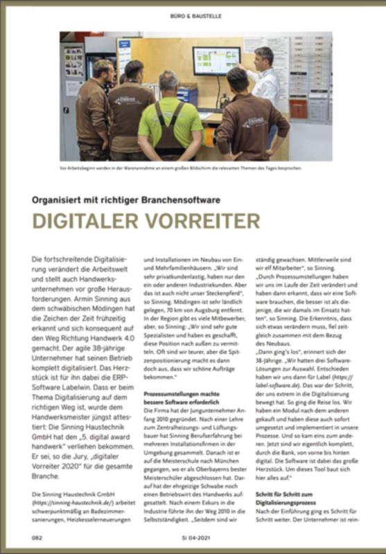 SI Information Ausgabe 04 2021 Digitaler Vorreiter Mit Labelwin Ausschnitt