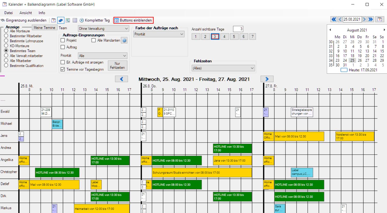 Labelwin: Kalender