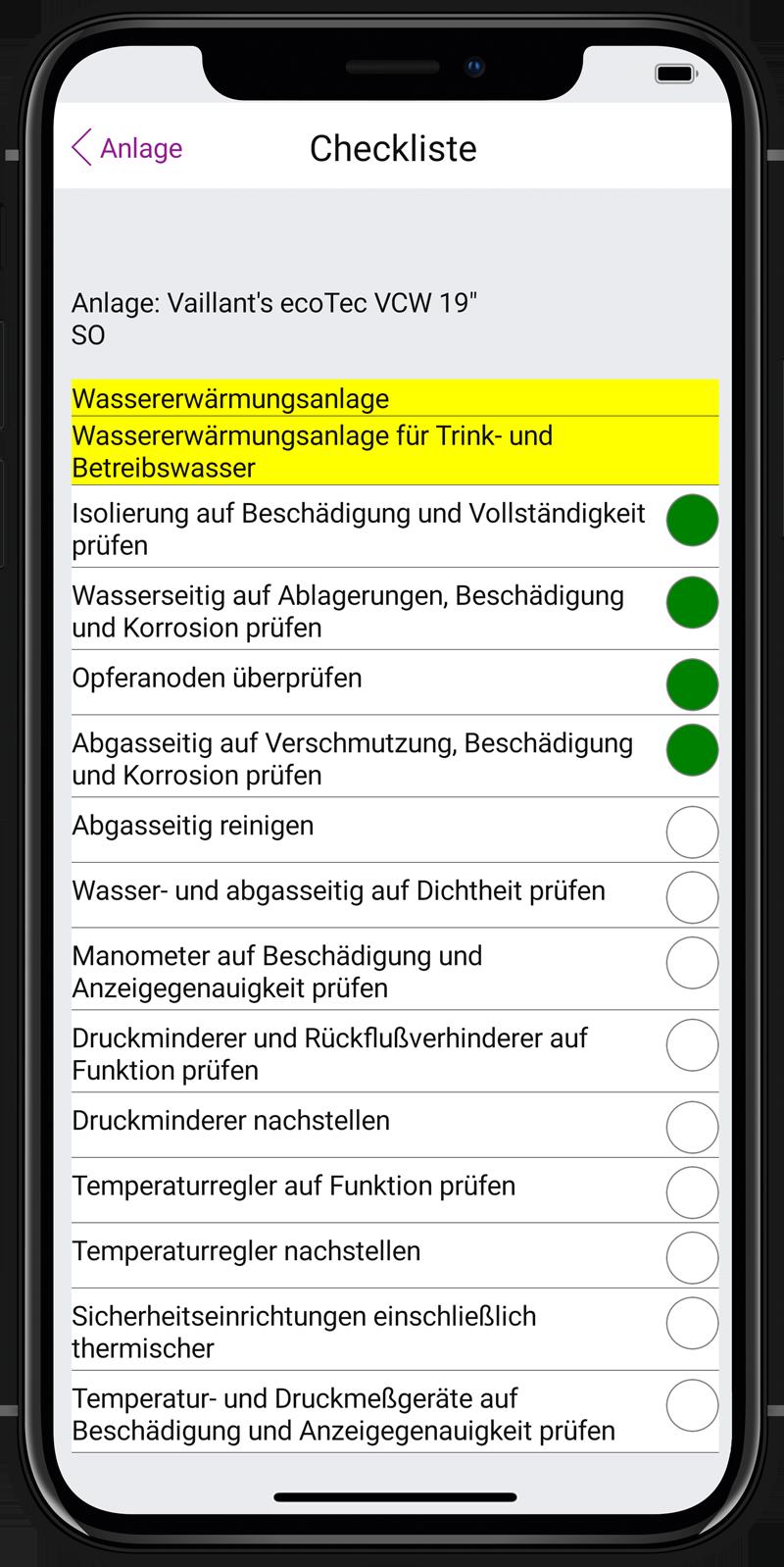 Label Mobile: Kundendienst-Checklist (Anlage)