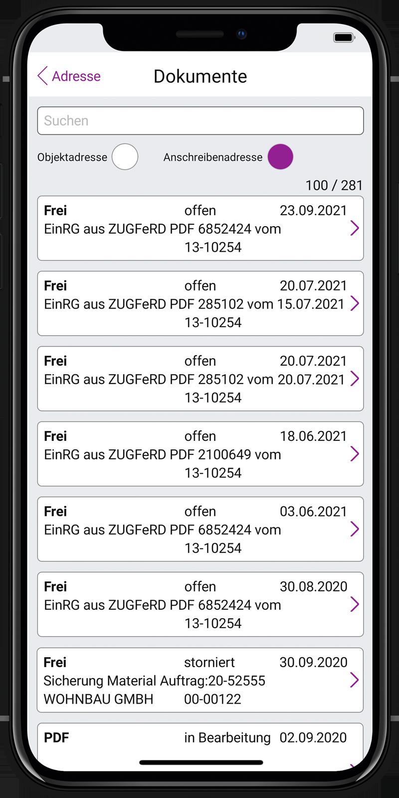 LabelMobile Rechnungen_labelsoftware