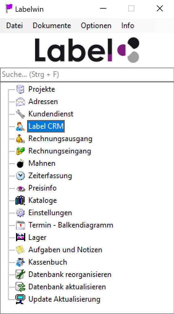 Labelwin-Startbaum