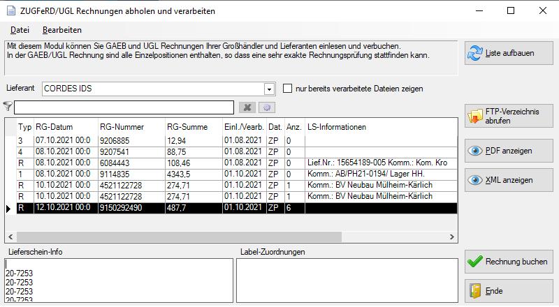 Labelwin: Digitale Rechnungen